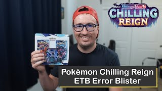 Chilling Reign ETB Apology Blister with the Legendary Birds from Pokémon Center