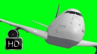 cargo plane in green screen free stock footage