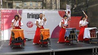 Samurai Drum IKKI Japanese Drummers at Edinburgh Festival Fringe