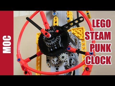 lego technic steampunk pneumatic clock youtube. Black Bedroom Furniture Sets. Home Design Ideas