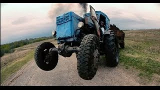 русские приколы с трактором потборка трактористов