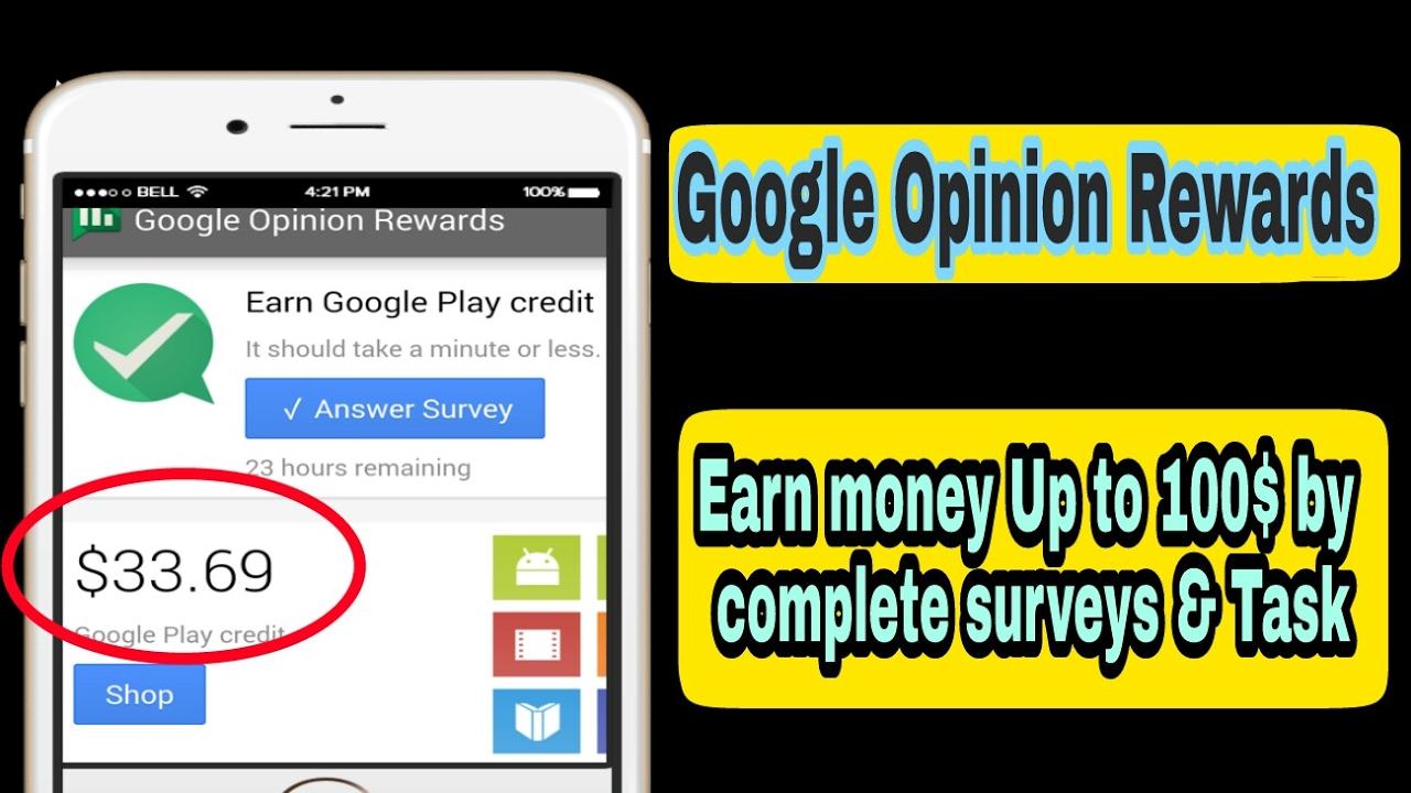 google opinion rewards ios paypal