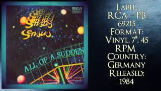 Download Sensus ‎– All Of A Sudden (1984 My Favorite Collection )✅ MP3 song and Music Video