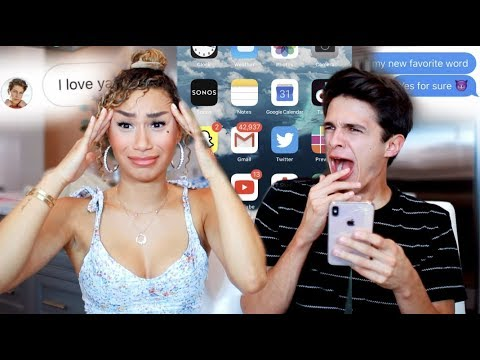 MY CRUSH GOES THROUGH MY PHONE! (nothings off limits) | MyLifeAsEva and Brent Rivera