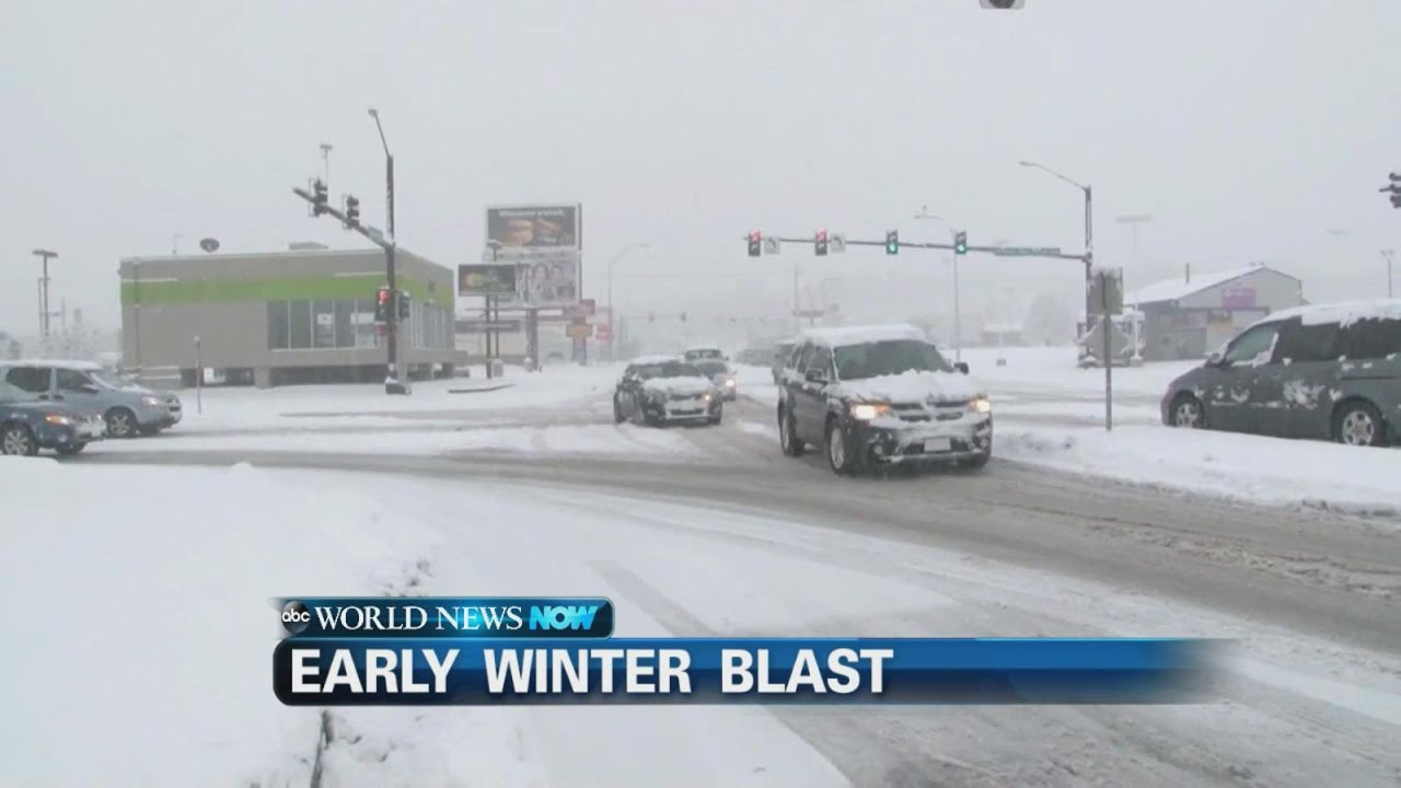 Midwest Hit with Early Winter Blast | ABC News - YouTube