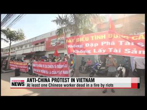 Anti-China riots in Vietnam leave at least one Chinese dead