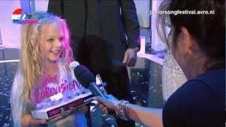 Junior Eurovision Song Contest - Eerste reactie Anastasiya, Femke en Fabian