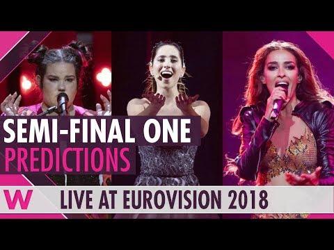 Eurovision 2018: Semi-Final 1 qualifiers (Prediction before jury show)