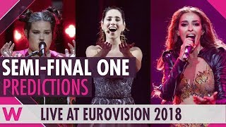 Eurovision 2018: Semi-Final 1 qualifiers (Prediction before jury show)