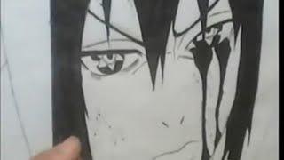 How To Draw Sasuke Akatsuki With Amaterasu-