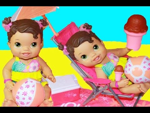 Baby Alive With Journey Girl Summer Beach Furniture Set