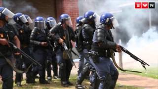 Stun grenades rubber bullets and tear gas at UWC