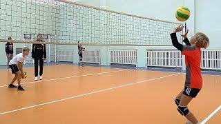 Волейбол обучение. Дети. Упражнения  в парах с мячами