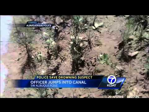 Officer Rescues Drowning Suspect