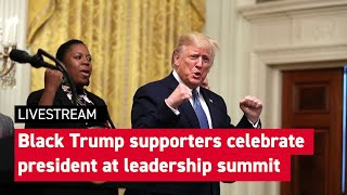 Trump, Pence host Young Black Leadership Summit at White House