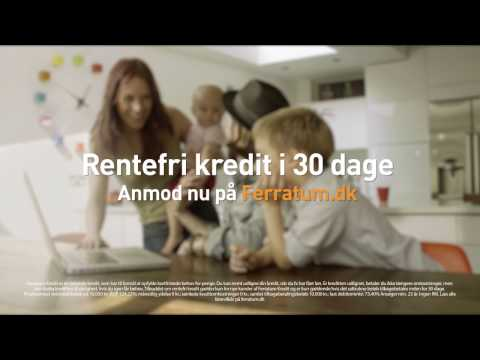 Ferratum Kredit - 30 dages rentefri kredit!