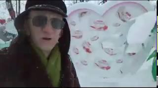Snowfall In Kiev, Ukraine. Снегопад и Мороз на 01.Марта в Киеве, Украина