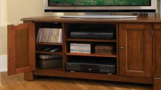 Home Styles 5520-07 Aspen Corner Tv Stand Rustic Cherry Finish