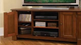Home Styles 5520-07 Aspen Corner Tv Stand Rustic Cherry Finish