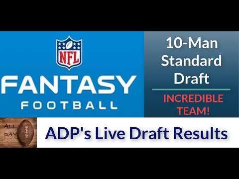 Real NFL Fantasy 2017 10-Man Standard Draft: INCREDIBLE Team