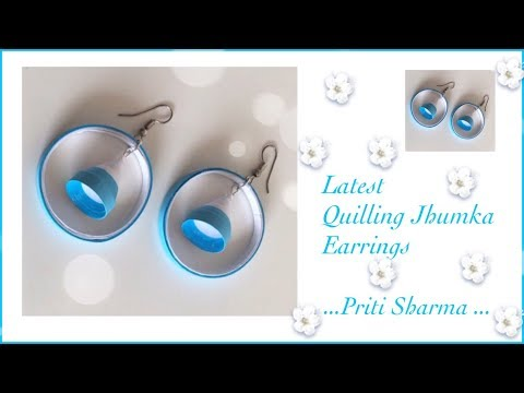 Easy And Simple Paper Quilling Jhumka Earrings / Quilling Jhumka Design | Priti Sharma