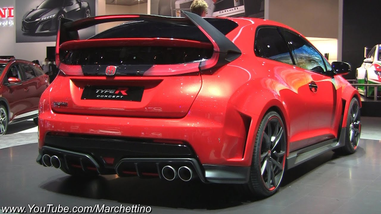 2015 honda civic type r concept walkaround tour youtube. Black Bedroom Furniture Sets. Home Design Ideas