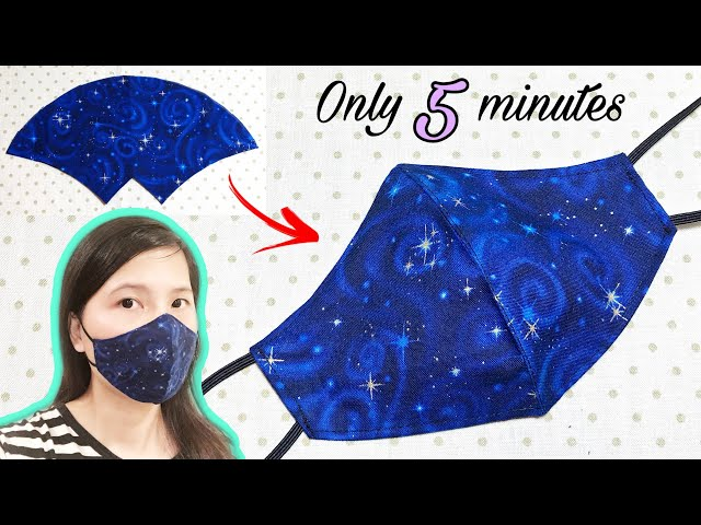 It only takes 5 minutes to sew a simple mask | Face mask sewing tutorial | DIY face mask at home