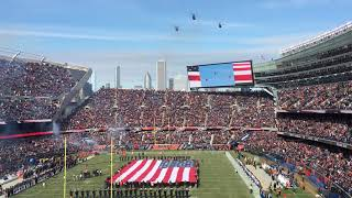 fly over soldier field, Chicago, Illinois, 11/11/18