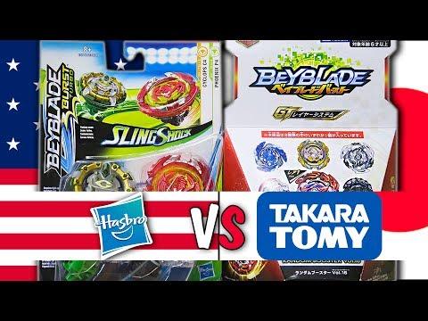 Beyblade Burst Hasbro VS Takara Tomy! ВОЛЧКИ Бейблэйд Берст Хасбро против Такара Томи