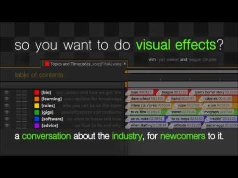 So You Want To Do Visual Effects