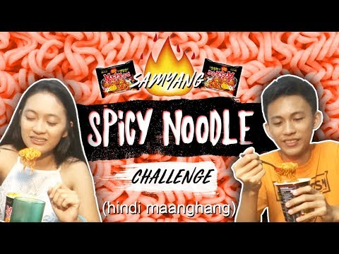 SPICY KOREAN NOODLE CHALLENGE!! [with my ate]