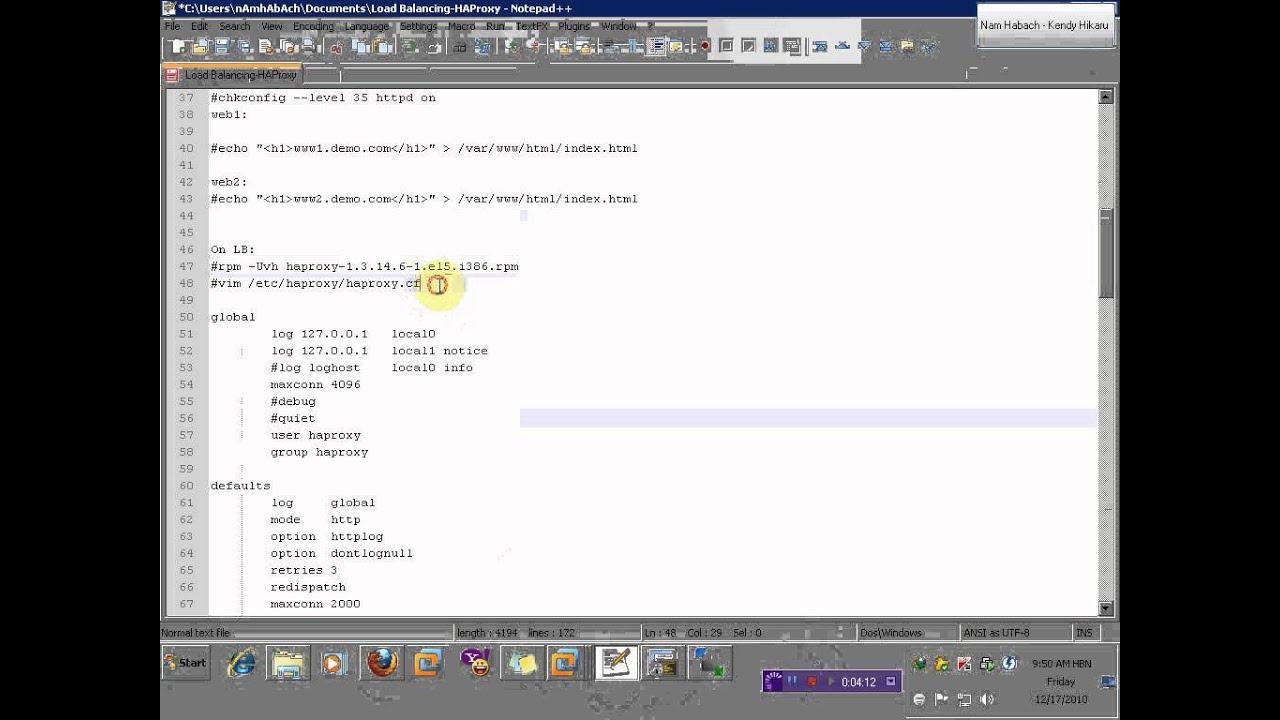 Cấu hình HAProxy trên Linux phần 1/2