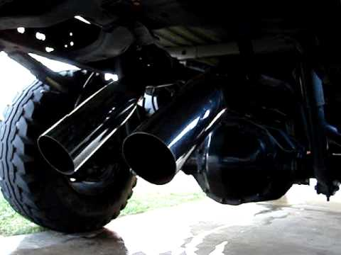 Axle Dump Exhaust >> Ford V10 (Dual Dump Exhaust) - YouTube