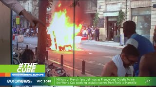 #TheCube | World Cup violence erupts in France after victory over Croatia
