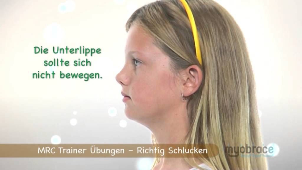Myobrace Activity - Correct Swallowing (Deutsch) - YouTube