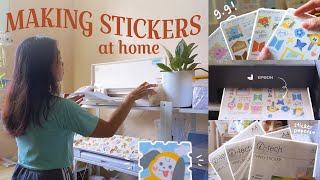 Printing stickers at home ON A BUDGET 🖨 DIY Printing sticker maker business package 💜 BTS fan merch screenshot 3
