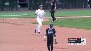 Auburn Baseball vs Mississippi State Game 3 Highlights