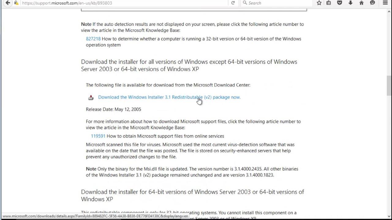 Fix error code 0x80070643 when updating Windows 10 / installing MSE
