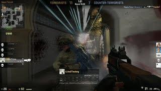 CS:GO Epic 1 v 4 Clutch or Kick Moment