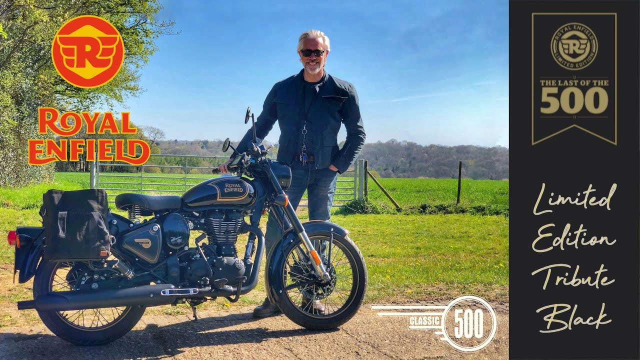 The Royal Enfield Classic 500 Limited Edition Tribute Black - The last of the 500.