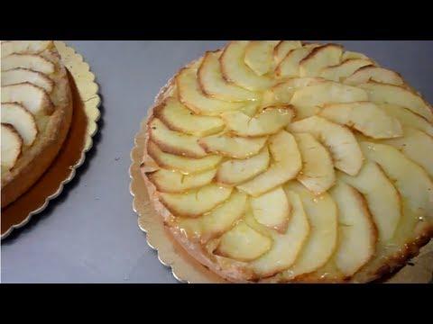 Crostata o torta di mele con crema e pasta frolla video for Crostata di mele
