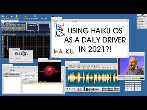 Using Haiku OS as a Daily Driver?! (Modern BeOS)