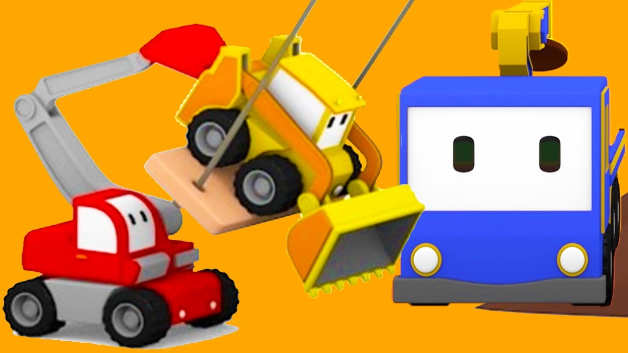 the-tree-shed-learn-with-tiny-trucks-bulldozer-crane-excavator-educational-cartoon