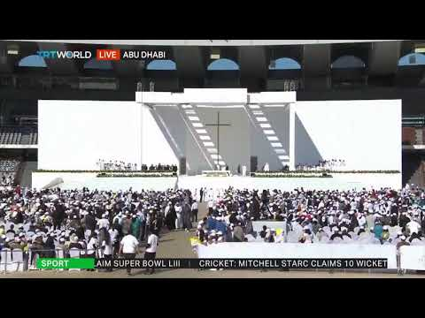 Pope Francis presides over a mass in the UAE