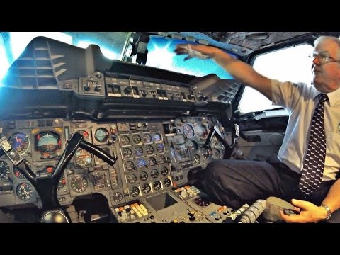British Airways Concorde - Detailed Cockpit Tour - Cockpit Visit at Manchester Airport