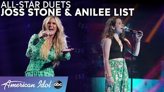 "Anilee List Belts Billie Eilish + ""Tell Me Something Good"" With THE Joss Stone! - American Idol 2021"