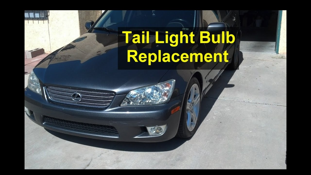 Tail Or Brake Light Bulb Replacement  Tail Light Assembly