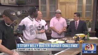 Patriots Fan And Seahawks Fan Face Off In Epic 'burger Battle'