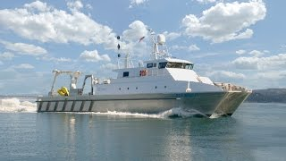 Aluminum catamaran work boat survey vessel