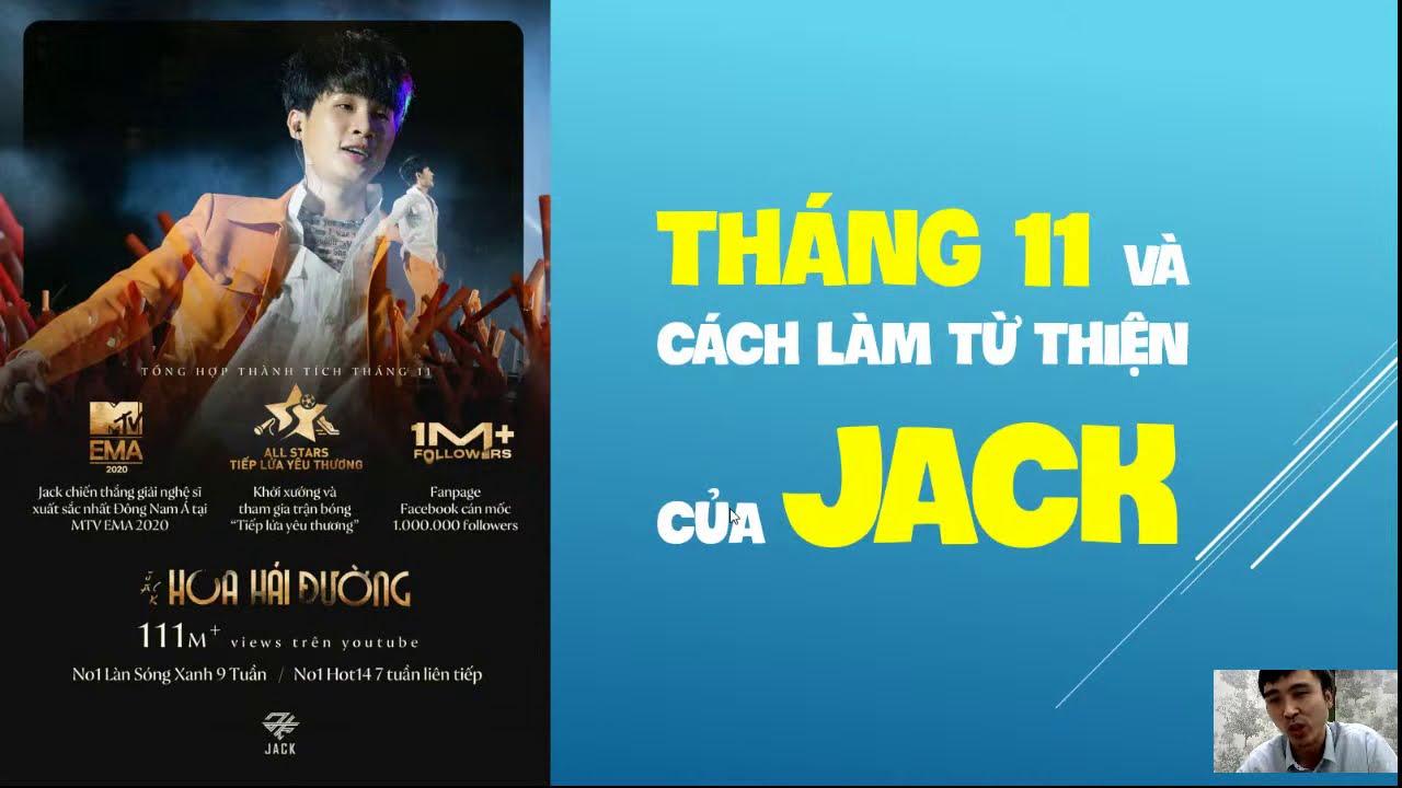 Tháng 11 và cách làm từ thiện của JACK